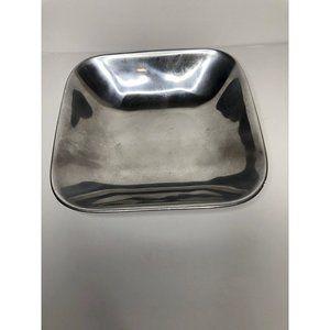 Nambe Original metal square bowl